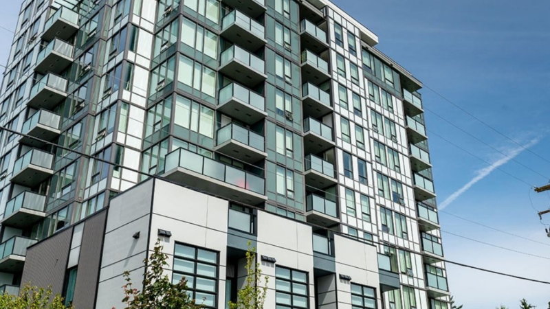 The 90-unit Danbrook One building just opened to renters at 2766 Claude Rd. in the spring. (Victoria Real Estate Board)