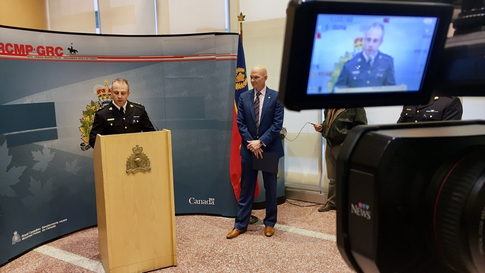 Police held a press conference on Dec. 19, 2019 to announce charges against employees of an Edmonton-based online payment company. (Evan Klippenstein/CTV News Edmonton)