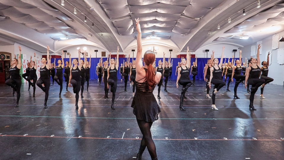 Rockettes Creative Director Karen Keeler is pictured during open rehearsals for the 2019 Christmas Spectacular. (Courtesy MSG)