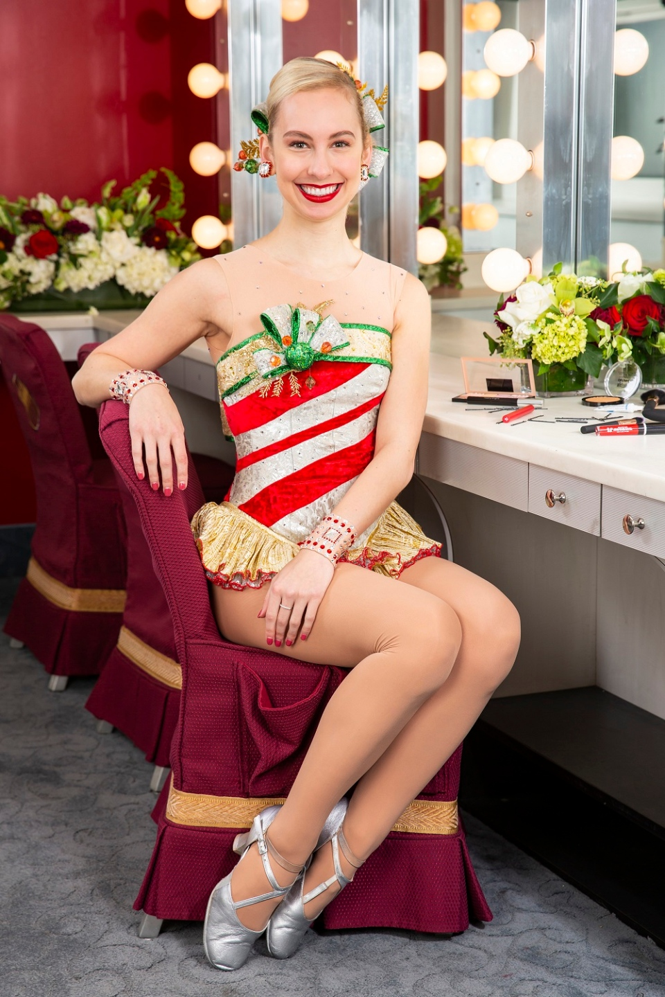 Katie Forss, a third-year Rockette from Edmonton, is seen in a Radio City Music hall dressing room. (Courtesy MSG)