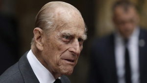 Prince Philip leaves St Paul's Church in Knightsbridge, London, on June 27, 2017. (Matt Dunham / AP)