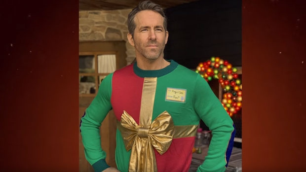 Ryan Reynolds uses last year's ugly Christmas sweater prank