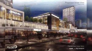 The City of Winnipeg's public service is recommending a $5 million dollar tax grant for the Portage Place redevelopment, but it's unclear if that amount will satisfy the buyers. (file image)