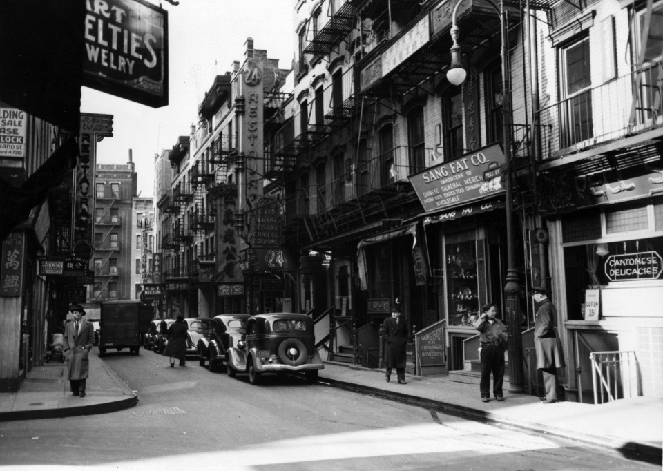 New York City's Chinatown, circa 1930. (Getty Images)