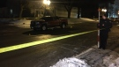 A 77-year-old woman has died after a collision in St. Marys. (Photo: Terry Kelly/CTV Kitchener) (Dec. 20, 2019)