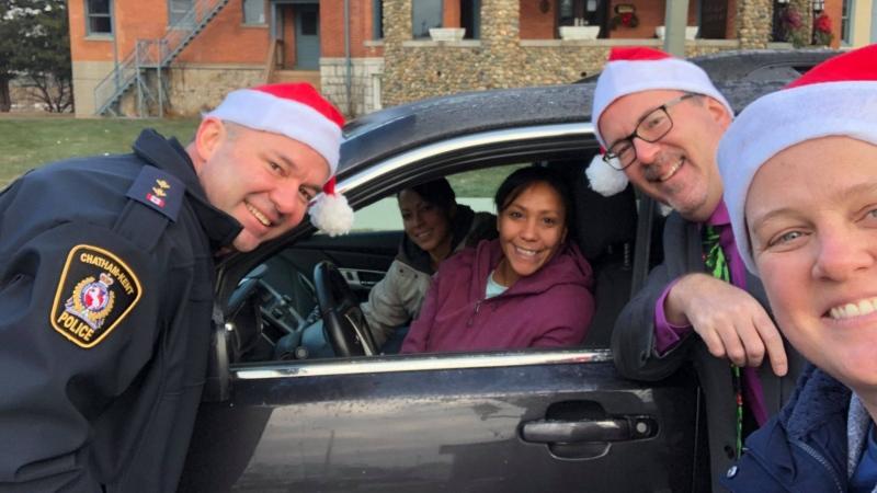 Chatham-Kent police officers play secret Santa for those doing good deeds. (Courtesy: Chatham-Kent Police)
