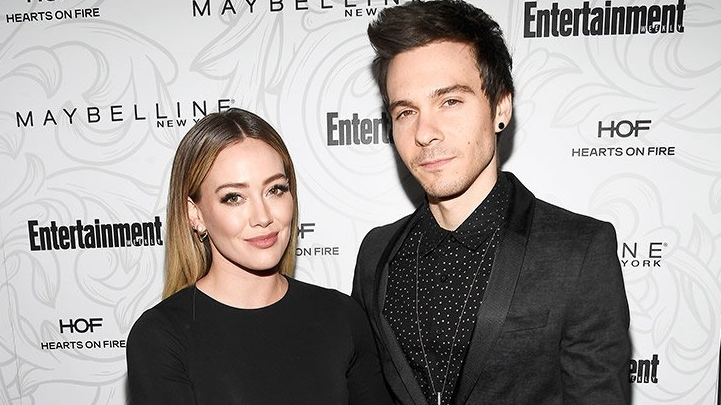 Hilary Duff is pictured with husband Matthew Koma in Los Angeles in this file photo.