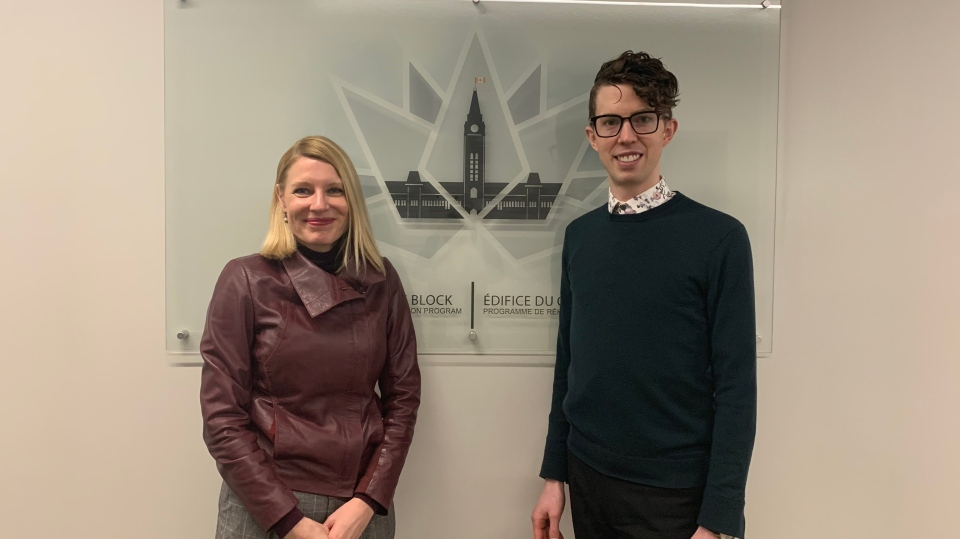 Jennifer Garrett, the director general for the Centre Block program and Spencer Cripps, project manager with CENTRUS. (CTV News / Rachel Aiello