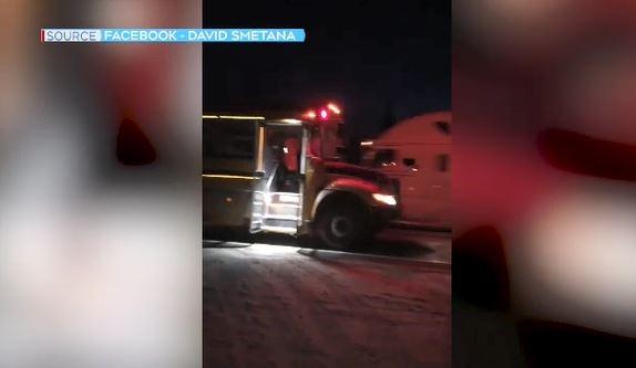 Transport blows past school bus