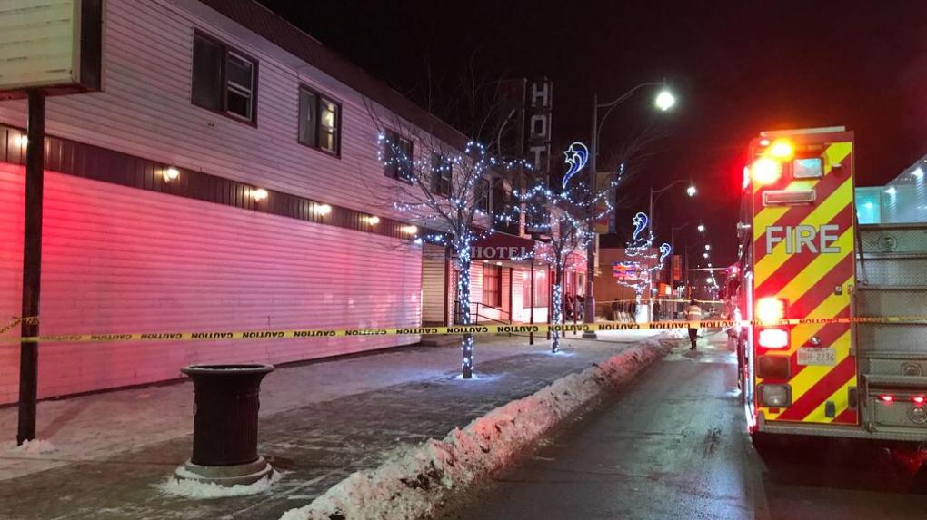 fire, Jasper Place Hotel, Dec. 23, 2019