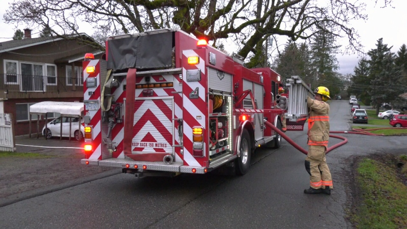 Saanich firefighters were called to the shed fire at approximately 8:30 a.m. Christmas Eve: (CTV News)