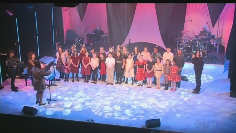 The Barontones, from R.L. Beattie Public School, performs Christmas at the Hop on the 2019 CTV Lion's Children's Christmas Telethon.