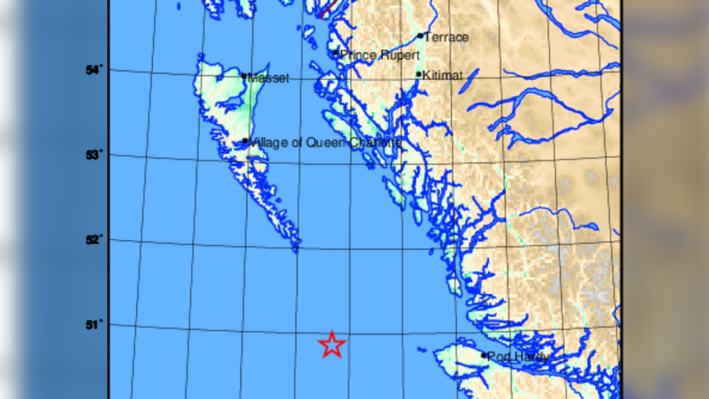 2 more earthquakes off B.C. coast, 9 now recorded since Monday