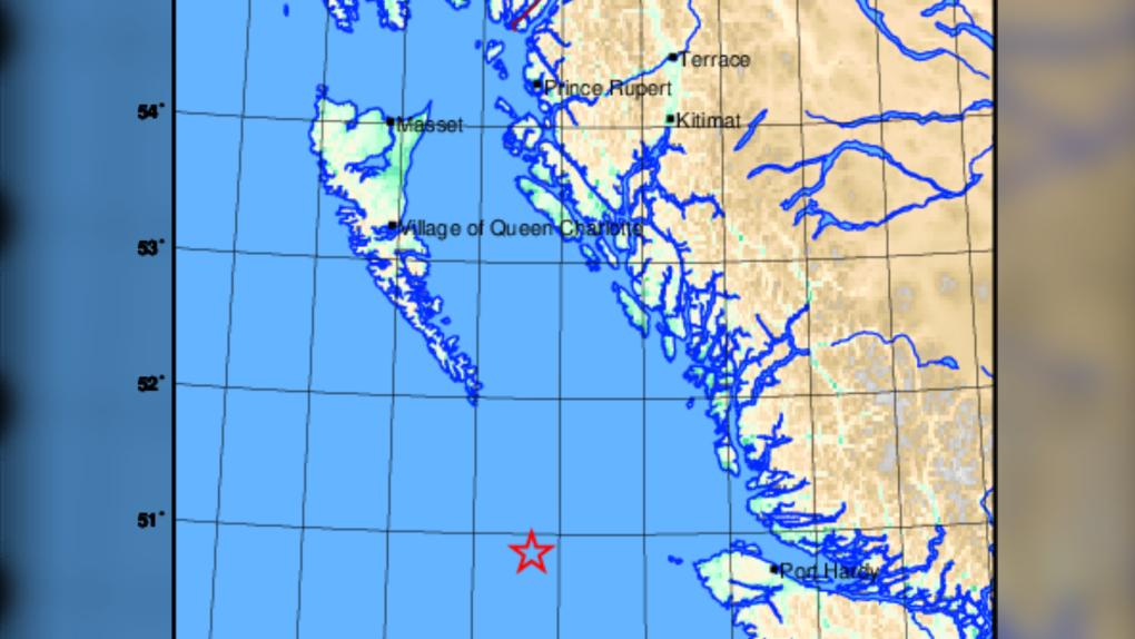 Earthquake off Port Hardy