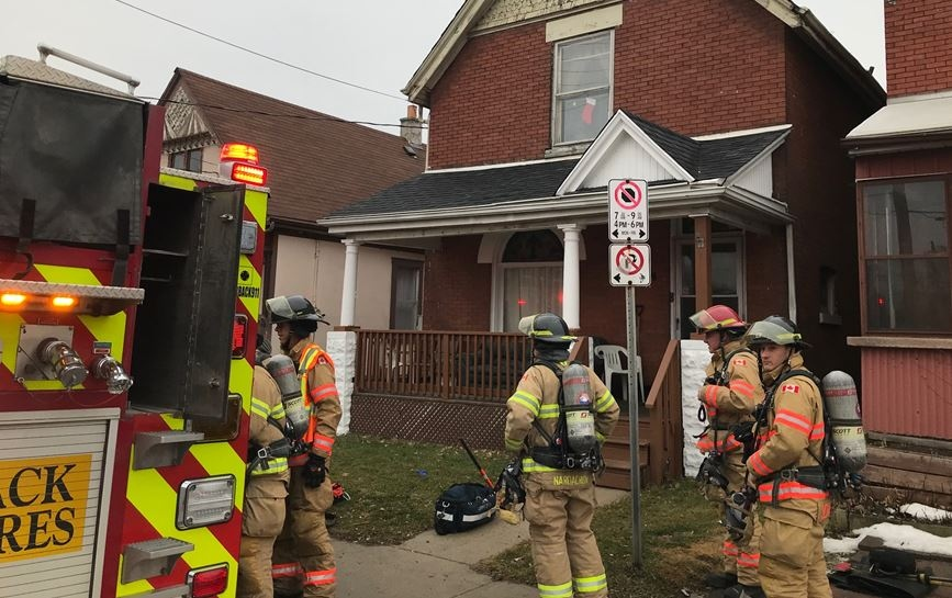 House fire at 71 Adelaide St. N. on Dec. 26, 2019.