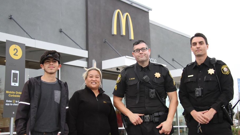 McDonald's workers save woman who says