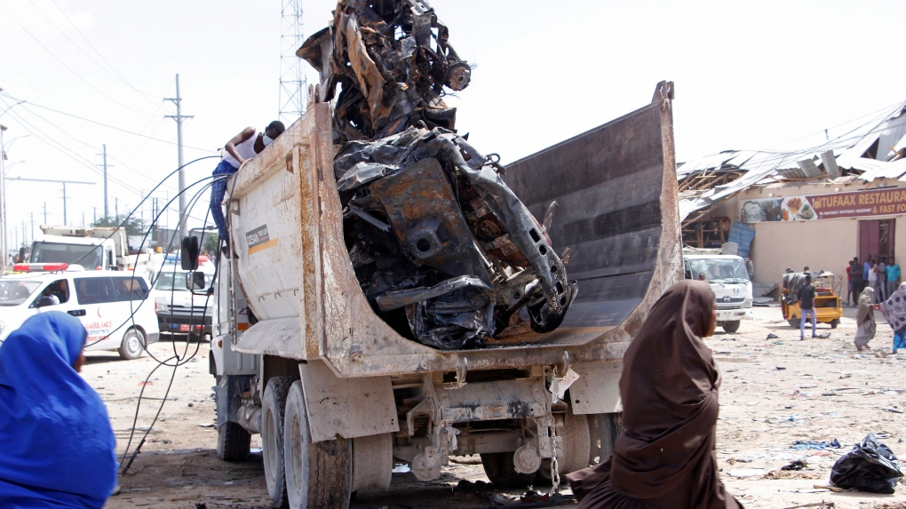 More than 70 dead in Somalia bombing at busy checkpoint