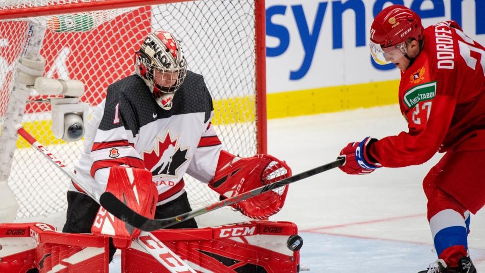 Canada vs Russia score world junior