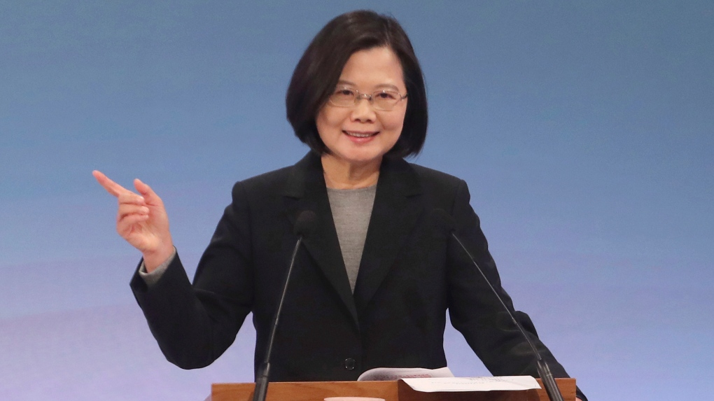 Taiwan President Channels HK Protests in Appeal for Votes