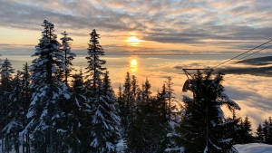 The skyline is seen from Grouse Mountain in this photo captured on Christmas Day 2019 by Dennis Amador. (Photo submitted through our free app, Weather Watch by CTV Vancouver)