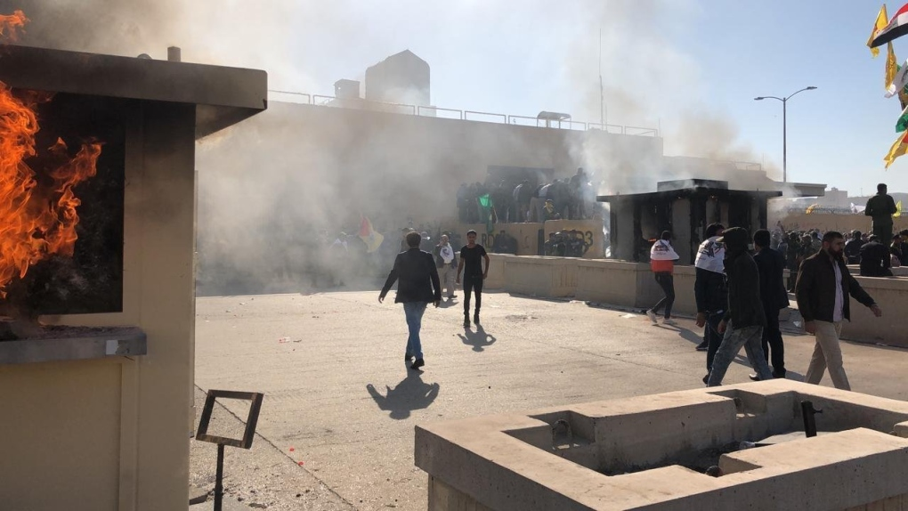 Protesters attack U.S. Embassy in Baghdad after airstrikes