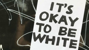 An image from an It's Okay To Be White Facebook page. (It's Okay To Be White/Facebook)