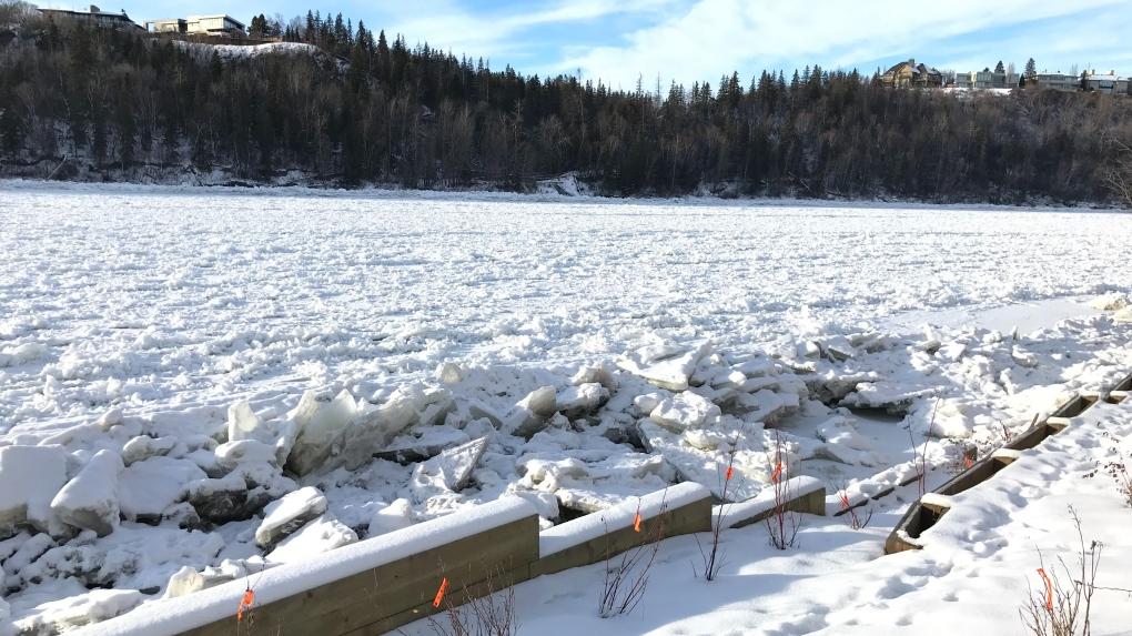 North Saskatchewan River in winter