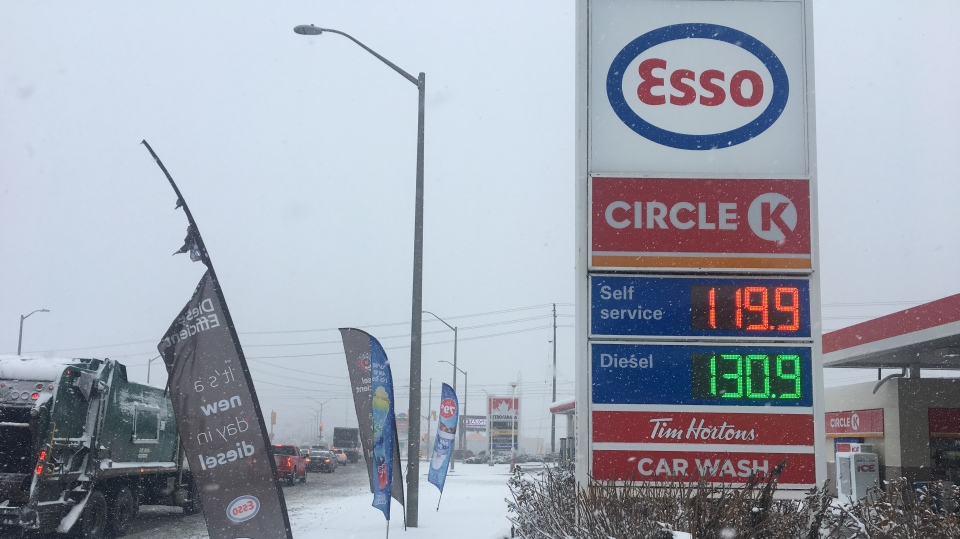 High gas prices in London (CTV News / Brent Lale)