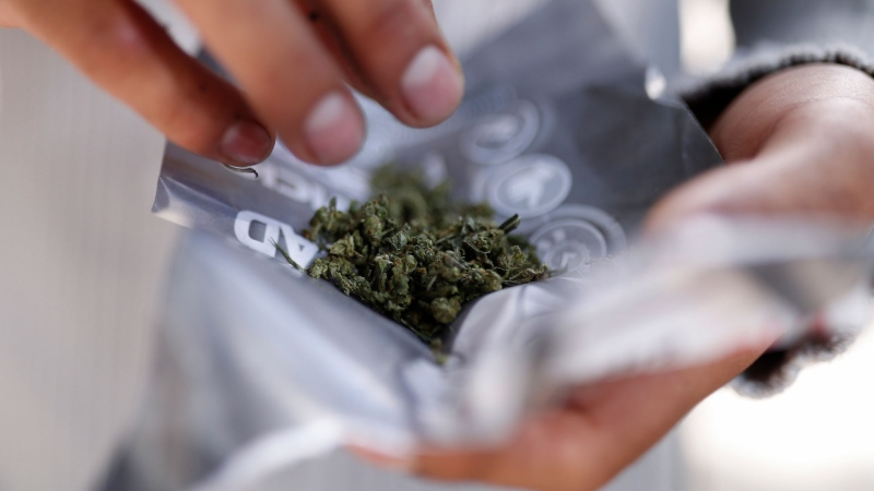 Union of B.C. Municipalities' president and mayor of Sooke, Maja Tait, is calling on the provincial government to share cannabis tax revenue with municipalities: (AP / Rebecca Blackwell)