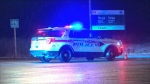 A York Regional Police cruiser is seen at the scene of a deadly crash in Markham, Ont. on Dec. 31, 2019.