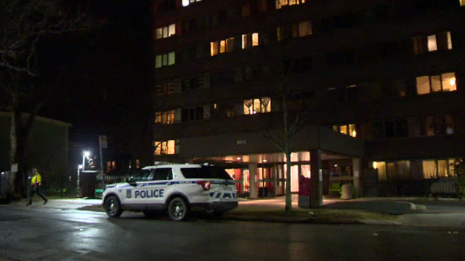 Halifax Regional Police respond to a suspicious fire at an apartment building on Victoria Road on Jan. 1, 2020.