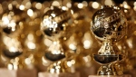 FILE - In this Jan.. 6, 2009, file photo, Golden Globe statuettes are displayed during a news conference in Beverly Hills, Calif. (AP Photo/Matt Sayles, File)