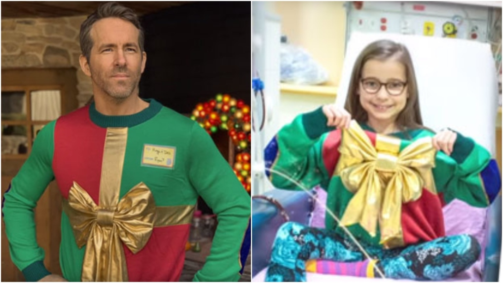 Ryan Reynolds' ugly Christmas sweater helps raise more than $300K for SickKids