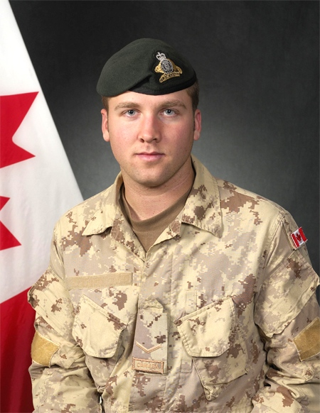 Pte. Patrick Lormand, 21 of the 2nd Battalion, Royal 22nd Regiment, is seen in this image made available by the Department of National Defence.