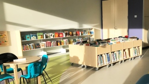 The Jensen Lakes Library in St. Albert. (Nicole Weisberg/CTV News Edmonton)