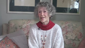 Nan Finlayson speaks at her home at 100 Stanley Street in London, Ont. on Thursday, Jan. 2, 2020. (Sean Irvine / CTV London)