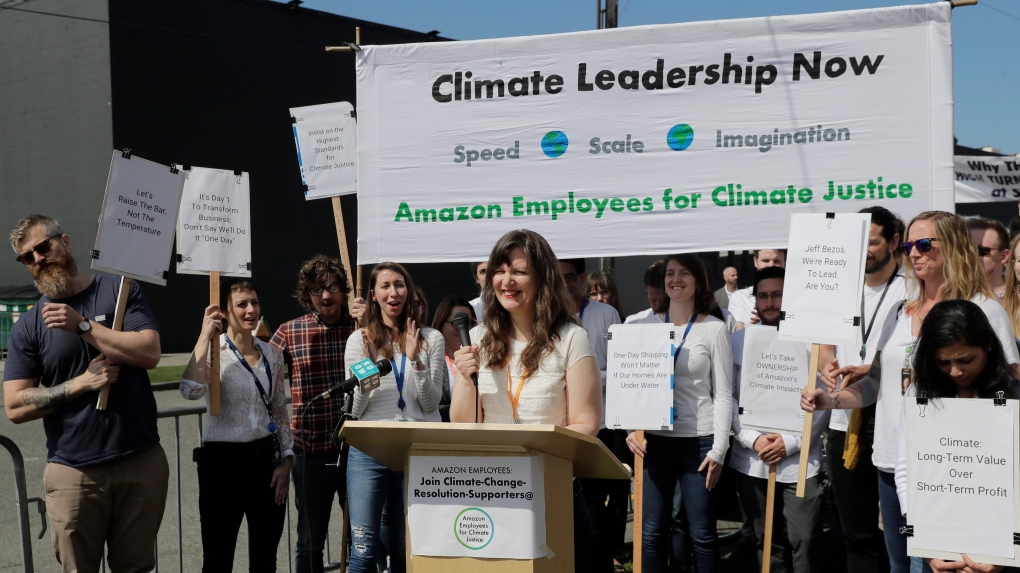 Amazon 'threatens to fire' climate change activists