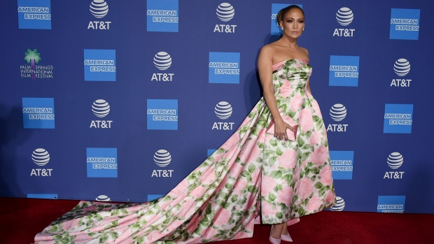 Jennifer Lopez arrives at the 31st annual Palm Springs International Film Festival Awards Gala on Thursday, Jan. 2, 2020, in Palm Springs, Calif. (Photo by Jordan Strauss/Invision/AP)
