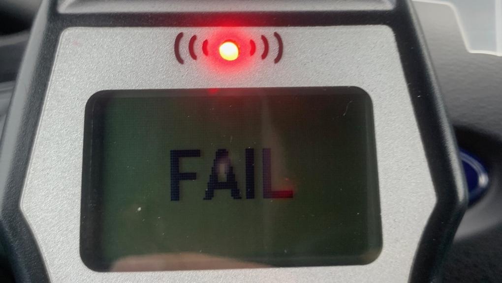 Breathalyzer registers fail