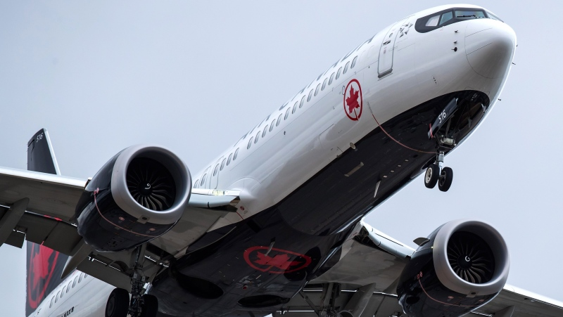 An Air Canada Boeing 737 Max 8 aircraft arriving from Toronto prepares to land at Vancouver International Airport, in Richmond, B.C., on Tuesday, March 12, 2019. THE CANADIAN PRESS/Darryl Dyck
