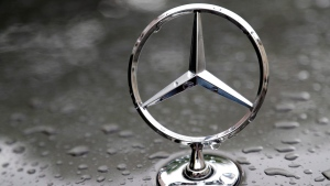 A July 28, 2017 file photo shows the logo of German car manufacturer Mercedes-Benz in Munich, Germany. (AP Photo/Matthias Schrader, File)