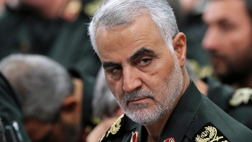 In this Sept. 18, 2016 photo released by an official website of the office of the Iranian supreme leader, Revolutionary Guard Gen. Qassem Soleimani, attends a meeting in Tehran, Iran. (Office of the Iranian Supreme Leader via AP)