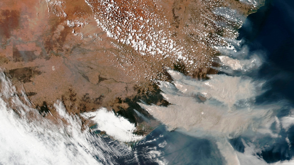 NASA tracks smoke from Australian fires across Pacific