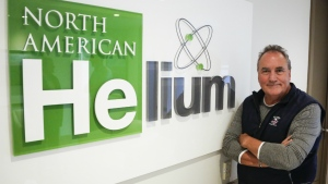 Marlon McDougall, president of North American Helium, is shown at the company's head office in Calgary. (THE CANADIAN PRESS/Jeff McIntosh)