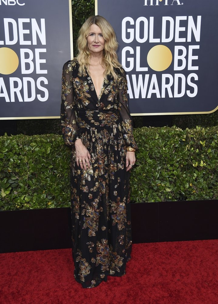 Laura Dern arrives at the 77th annual Golden Globe Awards at the Beverly Hilton Hotel on Sunday, Jan. 5, 2020, in Beverly Hills, Calif. (Photo by Jordan Strauss/Invision/AP)