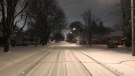 Side roads were snow covered following a system on January 5, 2020. (Justin Zadorsky / CTV London)