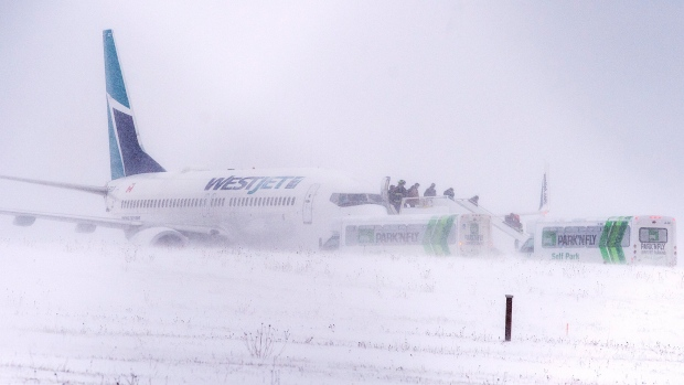 image - TSB investigators trying to determine why jet skidded off Halifax runway