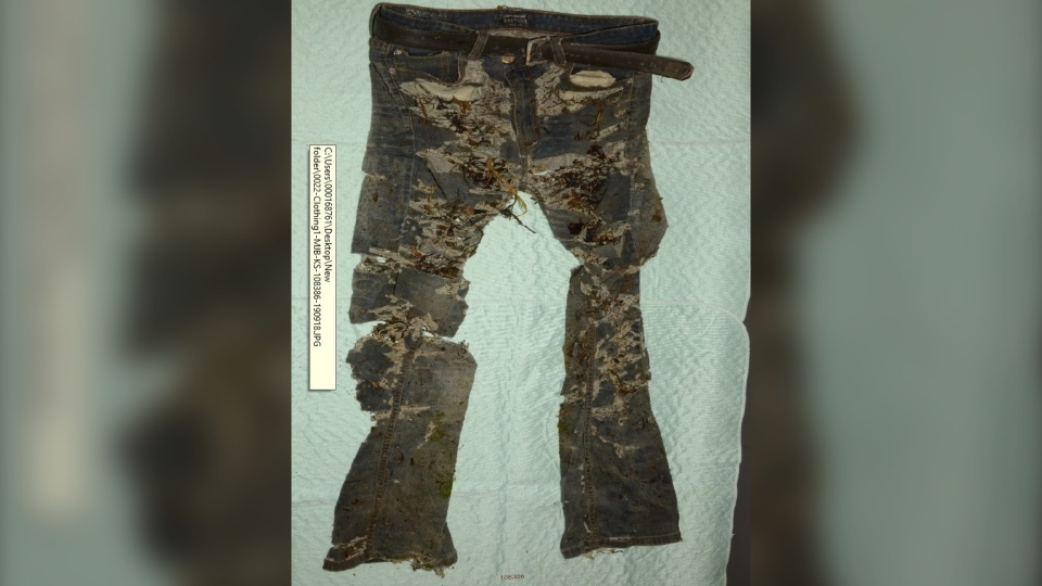 The RCMP has released photos of the clothing belonging to a man whose remains were found on a beach in Digby County in September 2019 in the hopes of identifying him. (Nova Scotia RCMP)