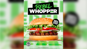 """The promotional image of the """"Rebel Whopper"""" launched by Burger King U.K. (Twitter)"""