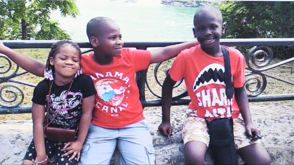 The three Osagie children were killed in crash